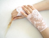 Lace Fingerless Gloves, Lace Wedding Accessory, Bridal accessory, Fingerless Gloves, Homecoming, Prom, Dusty rose