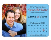 Custom & Personazlied Rectangular Save the Date Magnets can do Rochester Theme in Mod