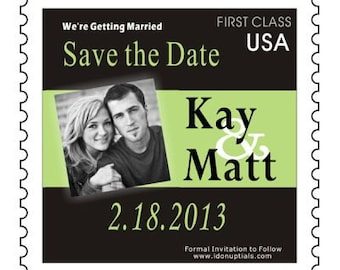 Custom & Personalized Photo Postage Stamp Save the Date Magnets can do El Paso Theme in Traditional