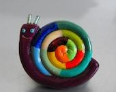 Violet rainbow snail
