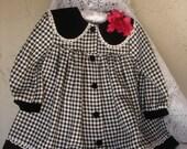 Vintage Coat Dress and Hat Set, Size 2 or 3