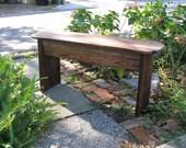 antique heart pine bench 11