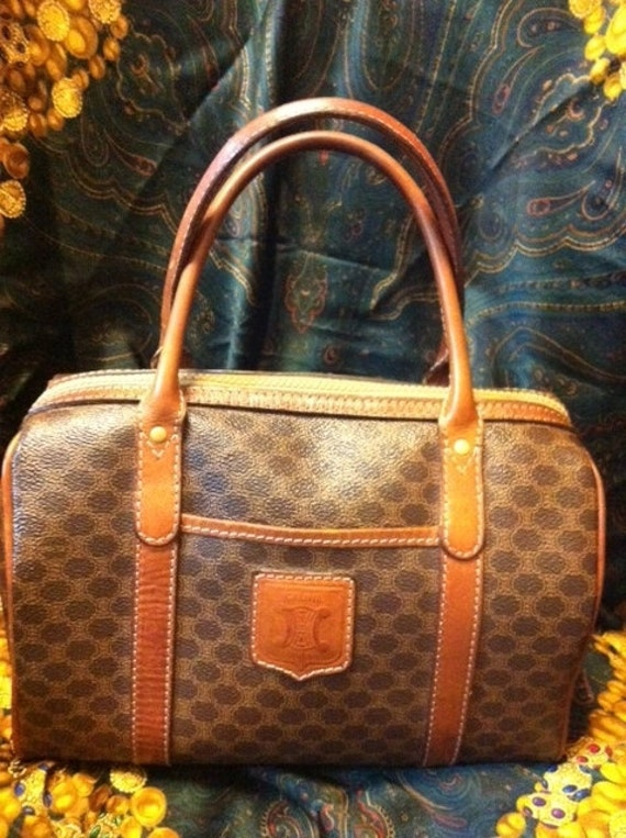 SALE 90\u0026#39;s Celine Vintage purse with leather trimmings by eNdApPi
