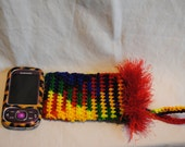 Rainbow Hand-Crocheted Cell Phone Case