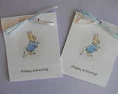 Baby Shower - Tea Bag Party Favors - Peter Rabbit