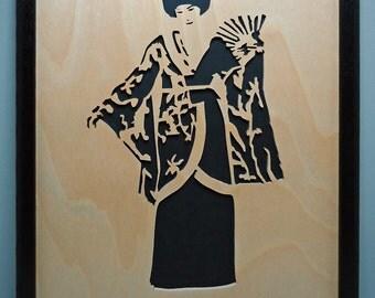 Geisha Girl - Framed