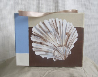 Scallop Shell on Canvas