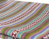 Tribal Fabric, Latin American Woven Fabric, Woven, Navajo, Ethnic, Green Pink Maroon, 1 yard x 0.8 yard