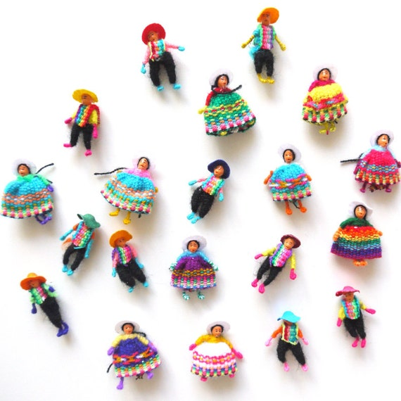 Coya Worry Dolls, Latin American, Bulk Lot of 20