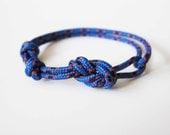 Rope Bracelet - Unisex Figure 8 Rock Climbing Bracelet - Blue