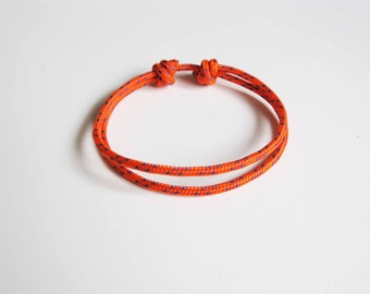 Simple Rope Bracelet - Orange