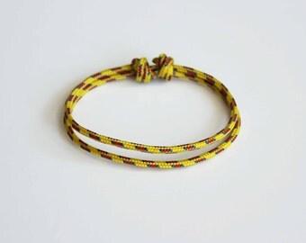 Simple Rope Bracelet - Yellow