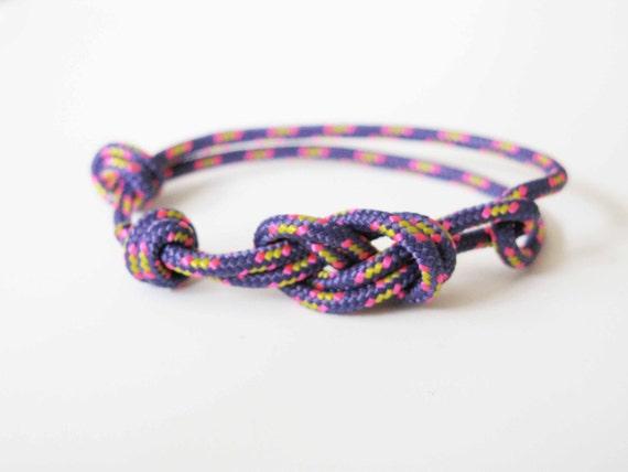 Rope Bracelet - Figure 8 Rock Climbing Bracelet - Electric Purple