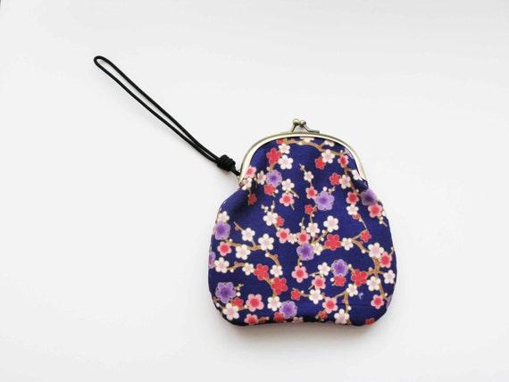 Cherry Blossom Purple Wrist Clutch