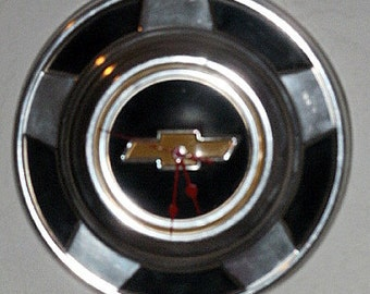 Chevrolet Hubcap Wall Clock