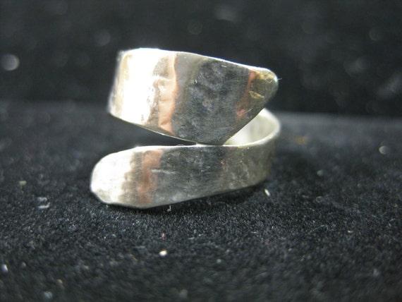 Organic Silver Wrap Ring