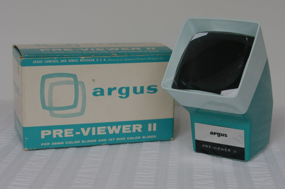 Slide Viewer Argus Pre Viewer 2 Beautiful Teal Color With Box