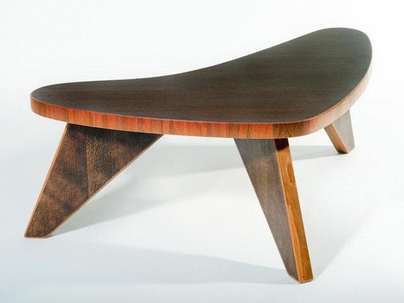 Mid century modern - Teak - Reclaimed wood - Boomerang - Small table