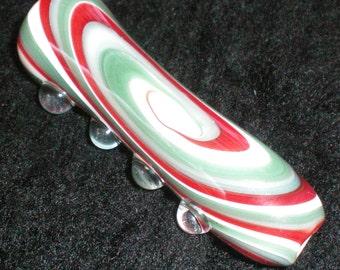 Pocket Sized Reversal Swirl Push Bowl Chillum Pipe - Handblown Glass