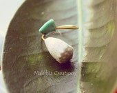 Spotted Cone Shell with Turquoise