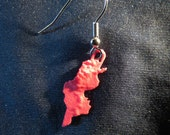 Tunisia Terrain Earring - 3D Printed Red Polymer