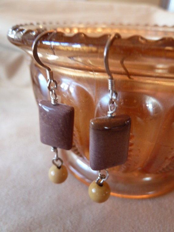 ON SALE Wire Wrapped Sterling, Moukaite Earrings
