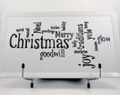 Christmas Word Art Platter