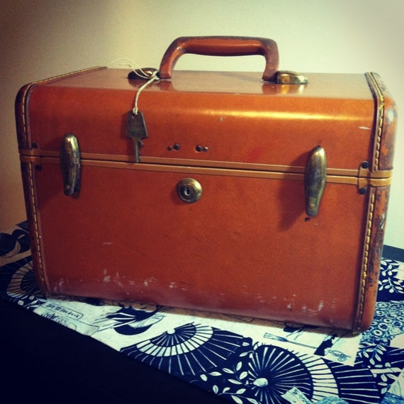 Lock and Key Box Vintage Luggage - Shwayder Brothers Early 1990's