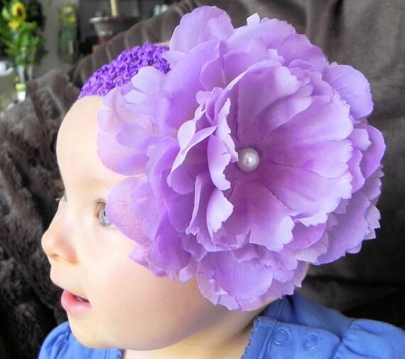 Large Purple Flower Headband