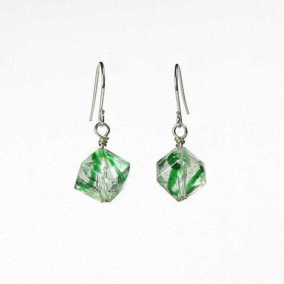 Green, GLOW In The Dark, Earrings, French Hook