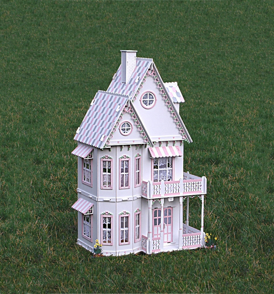 Deluxe Victorian Gingerbread Dollhouse Kit Doll House Kit