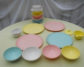 Pastel Melamine Melmac Dish Set