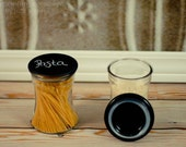 Glass Chalkboard Lid Container