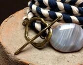 Navy/White Braided Wrap Bracelet