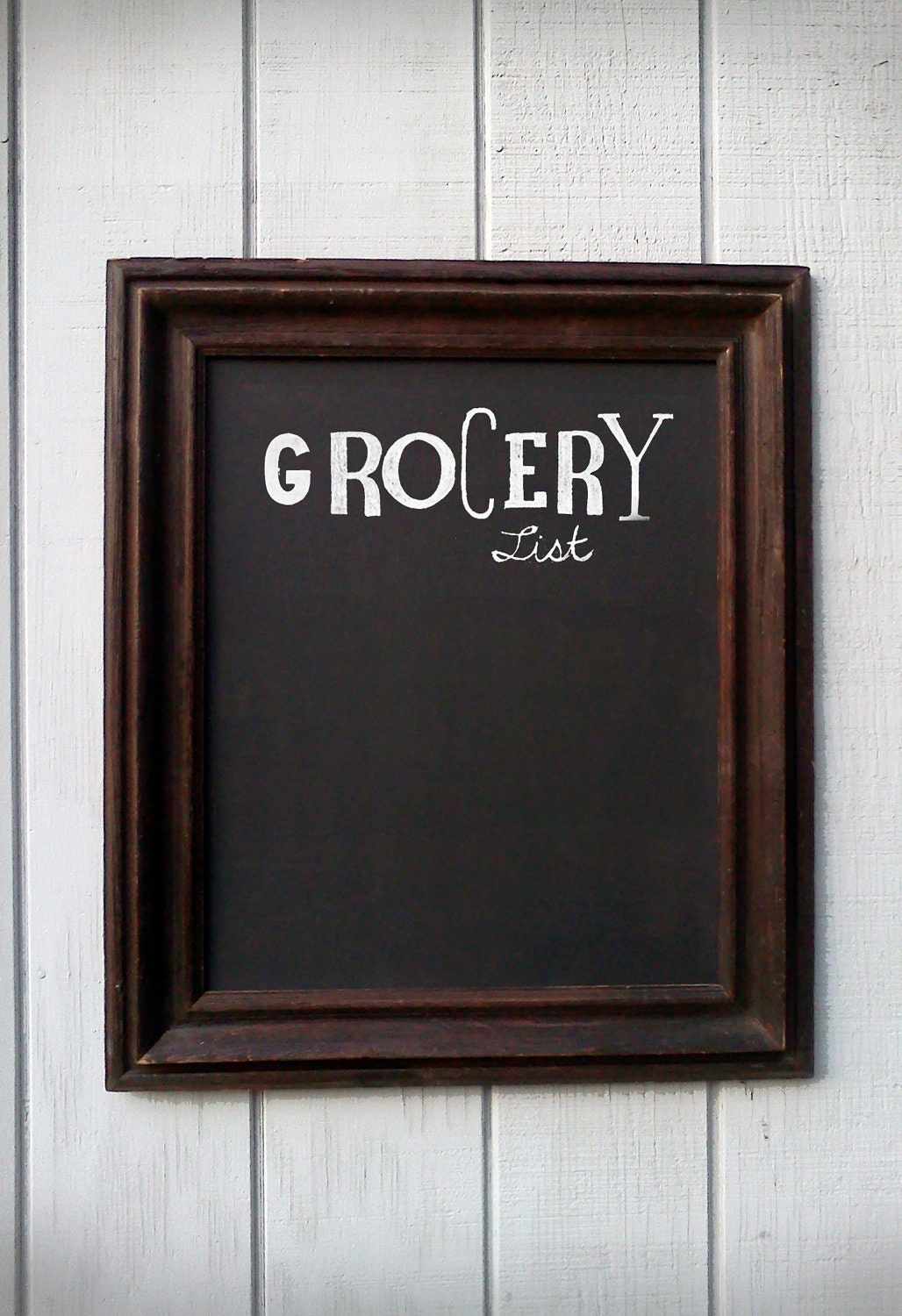 Awesome Rustic Chalkboard Large Wood Frame Home Decor