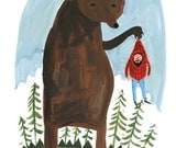 A4 Hunter and Bear print. 1/2 price Second.