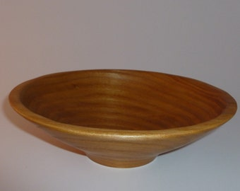 Hand Turned Elm Wooden Bowl 4 Handcrafted