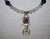 Amethyst & Fluorite Necklace
