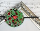 Ladybug Fabric Flower Headband