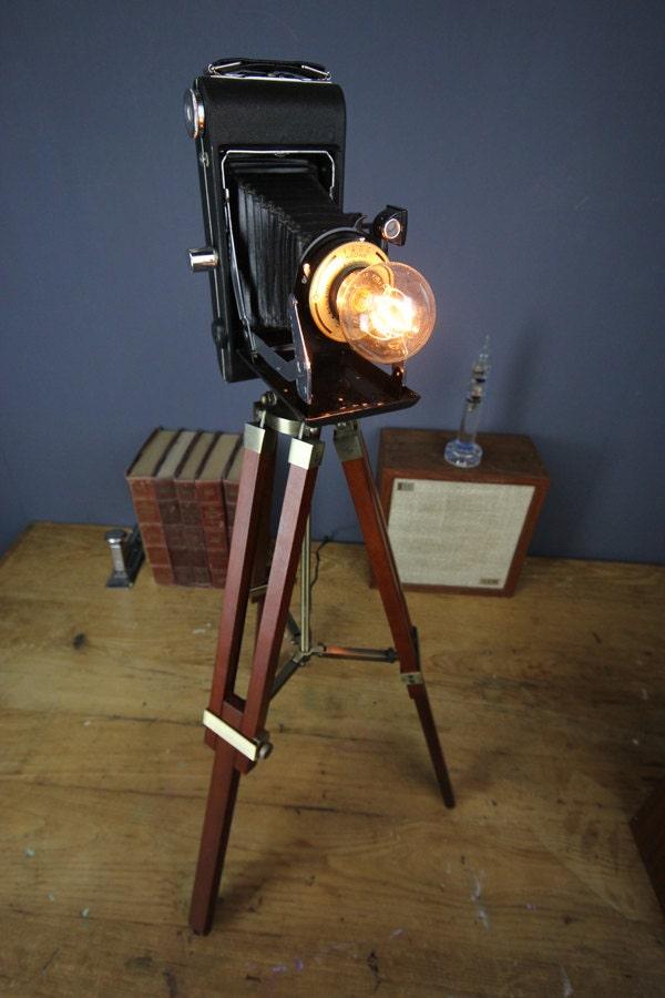 Handmade Vintage Camera Lamp