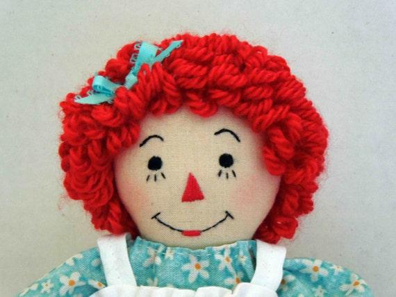 Little Raggedy Ann doll