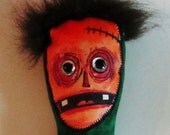 "silly stuffed zombie art doll ""Doug"""