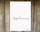Happy Anniversary - 365 Days a Year - Blank Inside - Custom Colors available - Set of Five