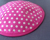 Hot Pink Polka Dots Kippa