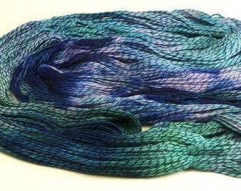 Hand Dyed Yarn Superwash  Blues Merino Wool 2310