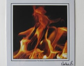 "Fire Dance  9""x9"" Photographic Print"