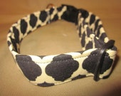 Black/White Geometric Adjustable Dog Collar
