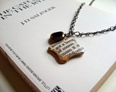 "The Catcher in the Rye Necklace - ""got a bang"" (book, text, pendant, charm, OOAK)"