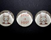 Set of Peek-a-boo Bunny Magnets