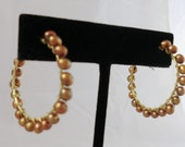 bronze pearl hoops from the Thalia Collection